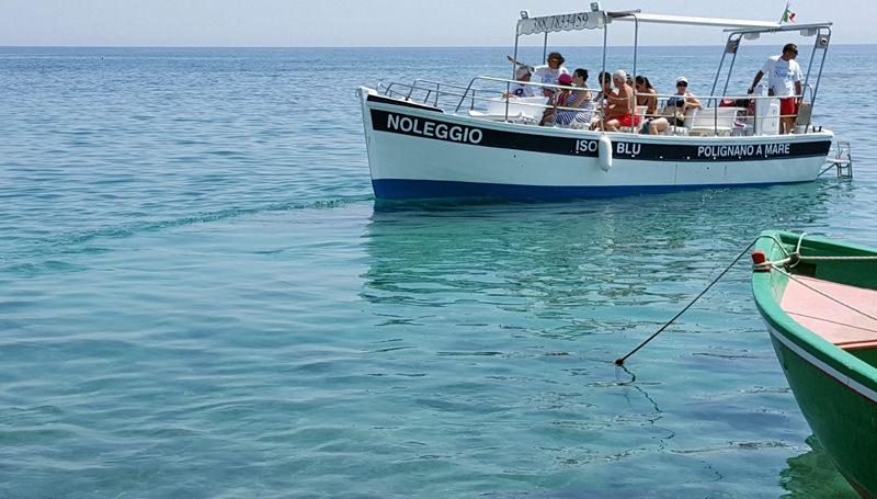 La nostra barca durante un'escursione